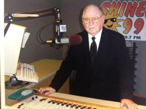 Vern Kaspar at the audio console at one of his radio stations (more pictures in the gallery)